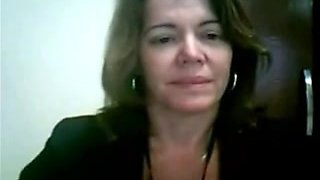 MILF Horny Brazilian mature in Office - negrofloripa