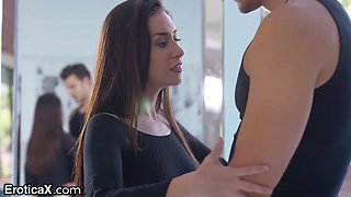 Slender beautiful dancer Cassidy Klein is making love with her new admirer