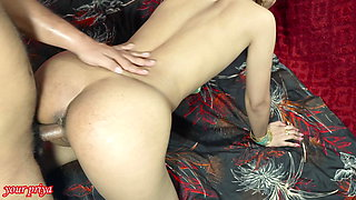 desi wife fucked boss by accident, Hindi audio