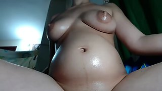 Pregnant mom ready for some milking