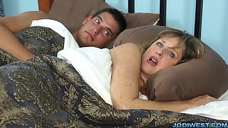 Mother lets her horny son fuck her