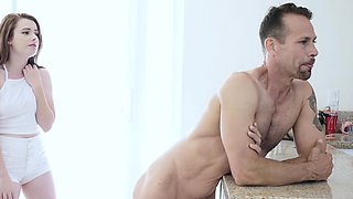 FamilyStrokes- Step-Daughter Seduces Dad Infront Of Mom