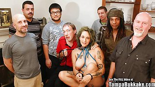 Kinky Pregnant ANAL Gangbang Slut With Tattoos Bukkake Party