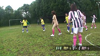 Japanese teen brunette gangbanged and abused after practice