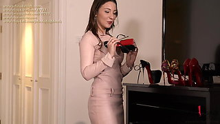 cum on shoes on most extreme louboutin high heels footfetish