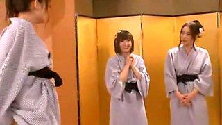 Crazy Japanese whore Risa Kasumi, Megu Fujiura, Ai Haneda in Exotic Gangbang, Group Sex JAV clip