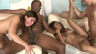 Bella Moretti and Kendall Foxxx are horny babe enjoying dicks