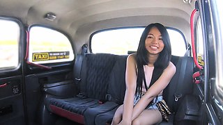 Fake Taxi Sexy Thai lady with pierced pussy lips