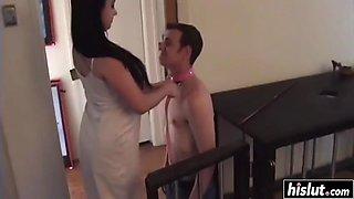 sexy sonya sage dominates her slave