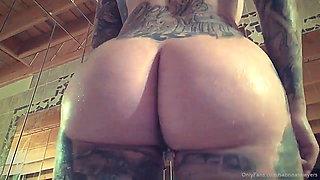 Sabrina Sawyers nude inked tattoo sexy shower